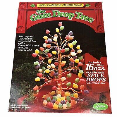"Vintage 13"" Plastic Holiday Gum Drop Tree Christmas New NOS"