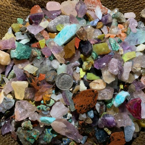 500 Carat Lots of SMALL Natural Tumble Rough - VERY Nice + FREE Faceted Gemstone