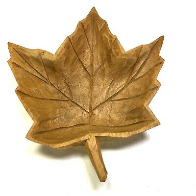 Used, Hand-carved Wood Maple Leaf by Sculptor DENYS TIMMONS La Pocatière Quebec for sale  Birmingham