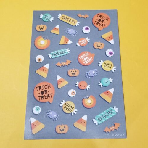 American Greetings Company Halloween Candy Sticker Sheets
