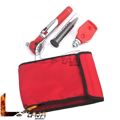 Fiber Optic Otoscope Opthalmoscope Red Color Medical Diagnostic Pocket Size Set