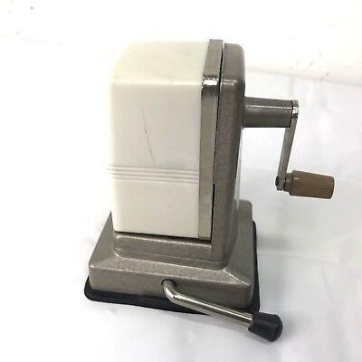 Vintage Boston Vacuumette Pencil Sharpener White Suction Desktop Mount Works!