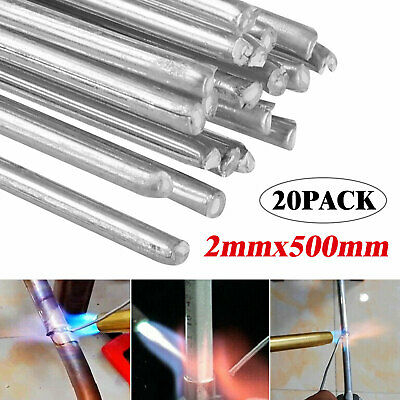 20pcs 2mm Aluminum Solution Welding Flux Cored Rods Repair Solder Wire Low Melt