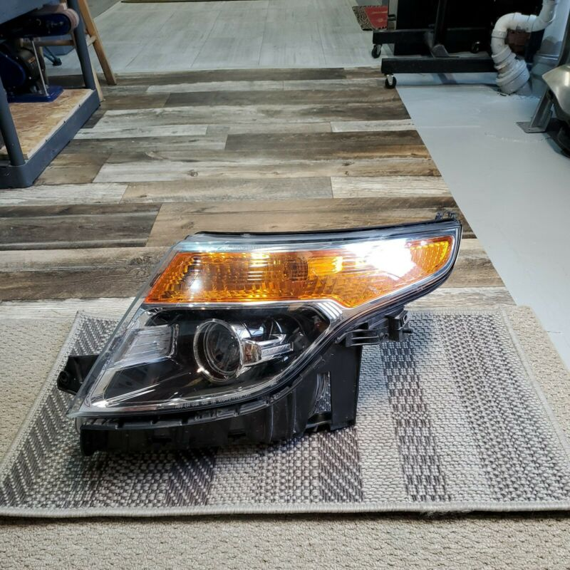 2013-2015 FORD EXPLORER LH DRIVER SIDE HEADLIGHT ASSEMBLY W/O POLICE PACKAGE