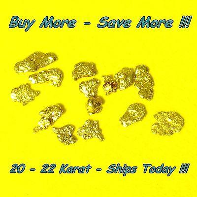 .135 Gram Alaskan Gold Nuggets Placer Flake Fines Real Alaska Natural 18k 20k