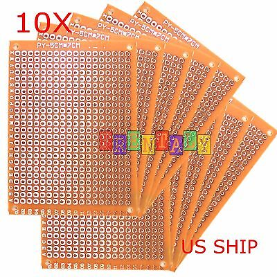 10pcs 5cm x 7cm PCB Prototyping Perf Boards Breadboard DIY US