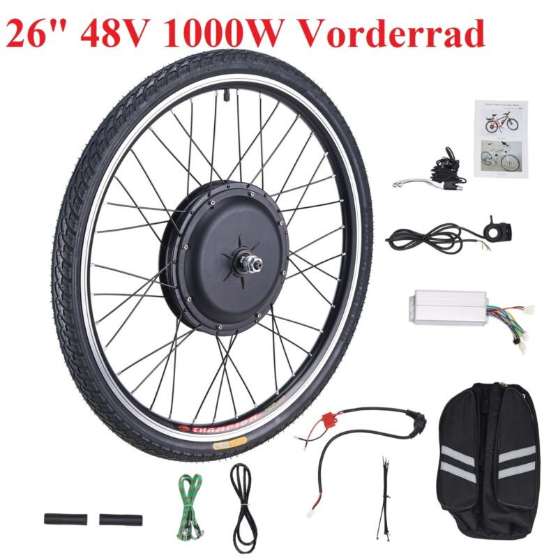 """26"""" 1000W 48V Vorderrad E Bike Conversion Kit Ebike Elektrofahrrad Umbausatz Kit"""