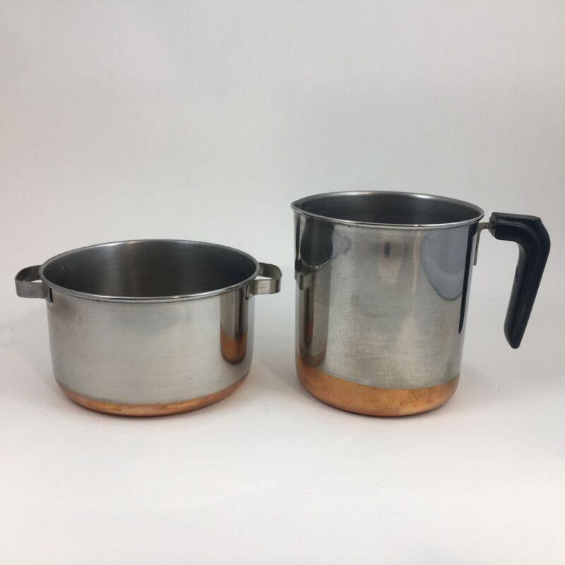 Vintage Miniature Revere Ware Copper Bottom Toys—Soup Pot & Coffee Percolator