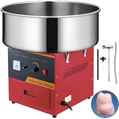 Electric Commercial Cotton Candy Machine Floss Maker Red Vevor