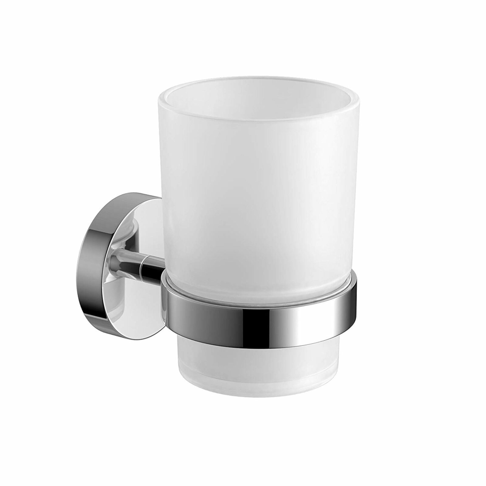 Toothbrush Holders Double Toothbrush Holder With Frosted Glass Cup Wall Mounted Holder Bathroom Accessories Home
