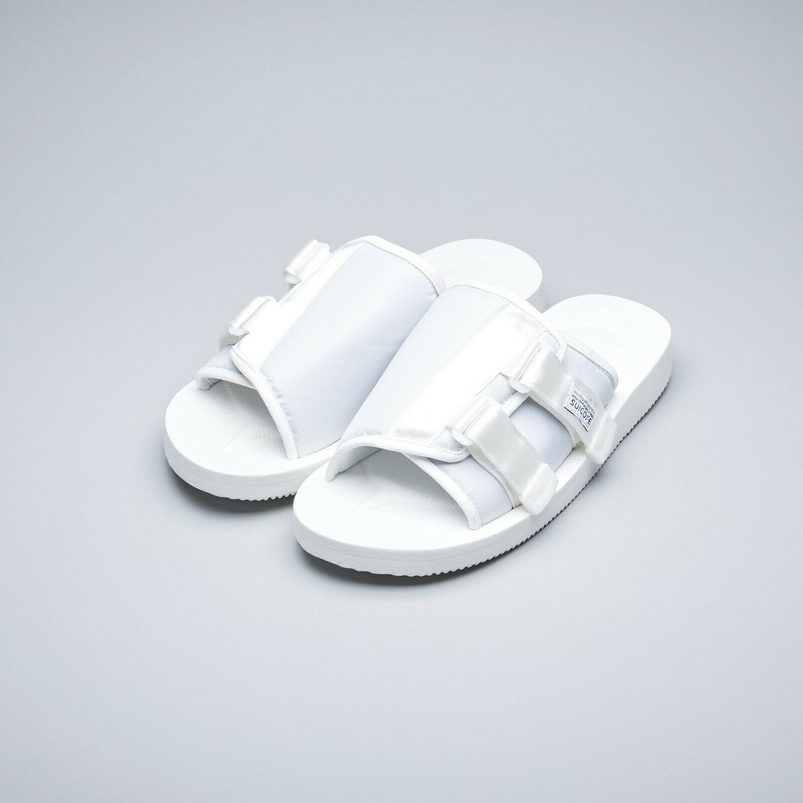 bfb1e5f7770 Suicoke SS19 OG-081Cab / KAW-Cab White Nylon Antibacterial Sandals Slides