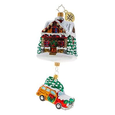 [NEW Christopher Radko LINCOLN LOG LANE Christmas Ornament 1020330</Title]