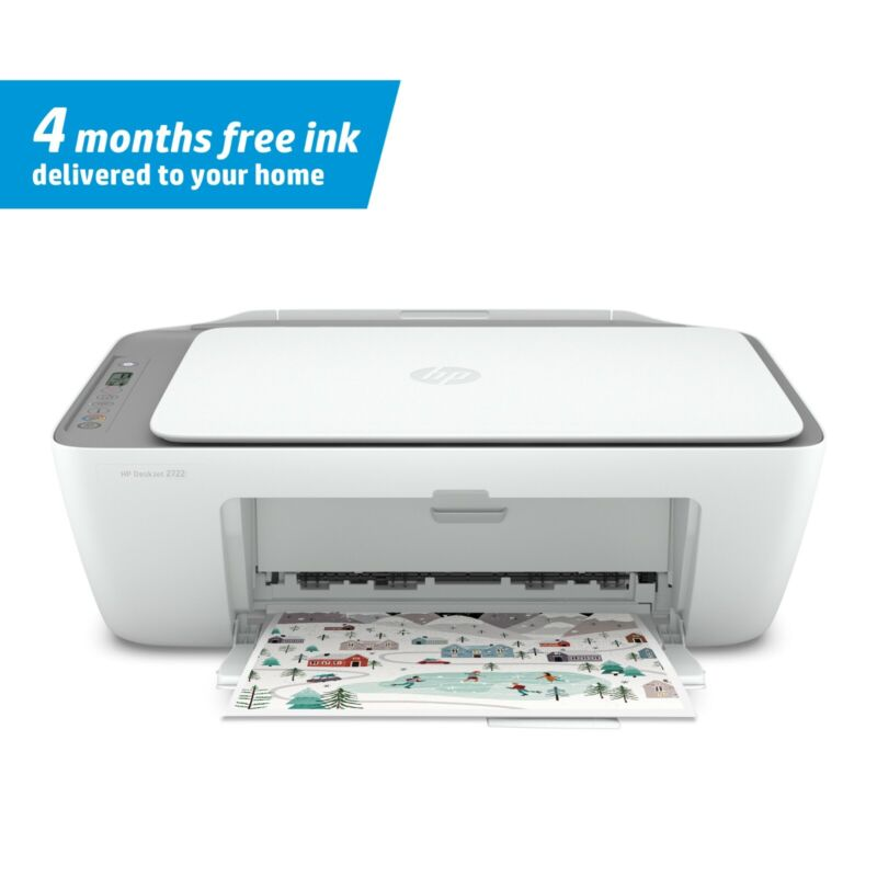 New HP DeskJet 2722 All in One Wireless Color Inkjet Printer - FAST SHIPPING