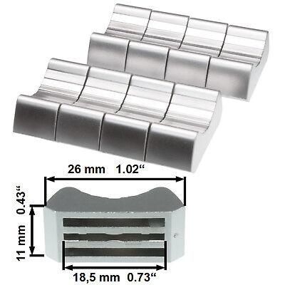 """6 prof FADER KNOB cap RED T-Bar 0.73/"""" ribbed 0,43/""""x1,02/"""" slider pot fader mixer"""