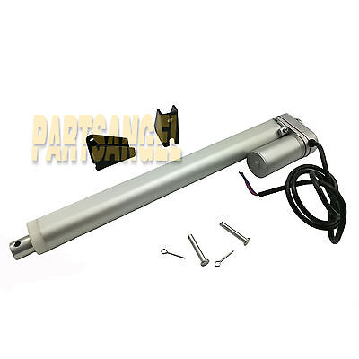 Linear Actuator 12  Stroke 225Lb Max Lift Dc 12V 12Mm With Mounting Bracket