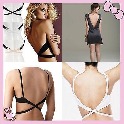 3pcs Low Back Backless Bra Strap Converter Adjustable Extender for Summer Dress ()