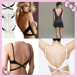 3pcs Low Back Backless Bra Strap Converter Adjule Extender For Summer Dress