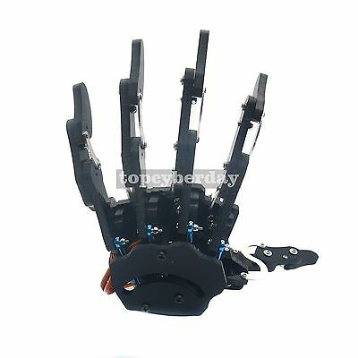 Assembled Mechanical Claw Clamper Gripper Arm Left Hand With Servos Robot Diy