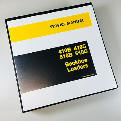 Service Manual John Deere 410b 410c 510b 510c Backhoe Loader Repair Shop Ovhl