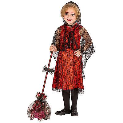 Mädchenkostüm Vampir-Lady Kostüm Karneval Fasching Halloween Girlie Kinder Kleid ()