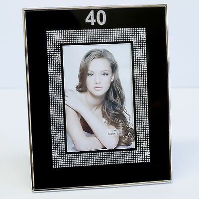 Happy 40th Birthday Glass Picture Photo Frame 4