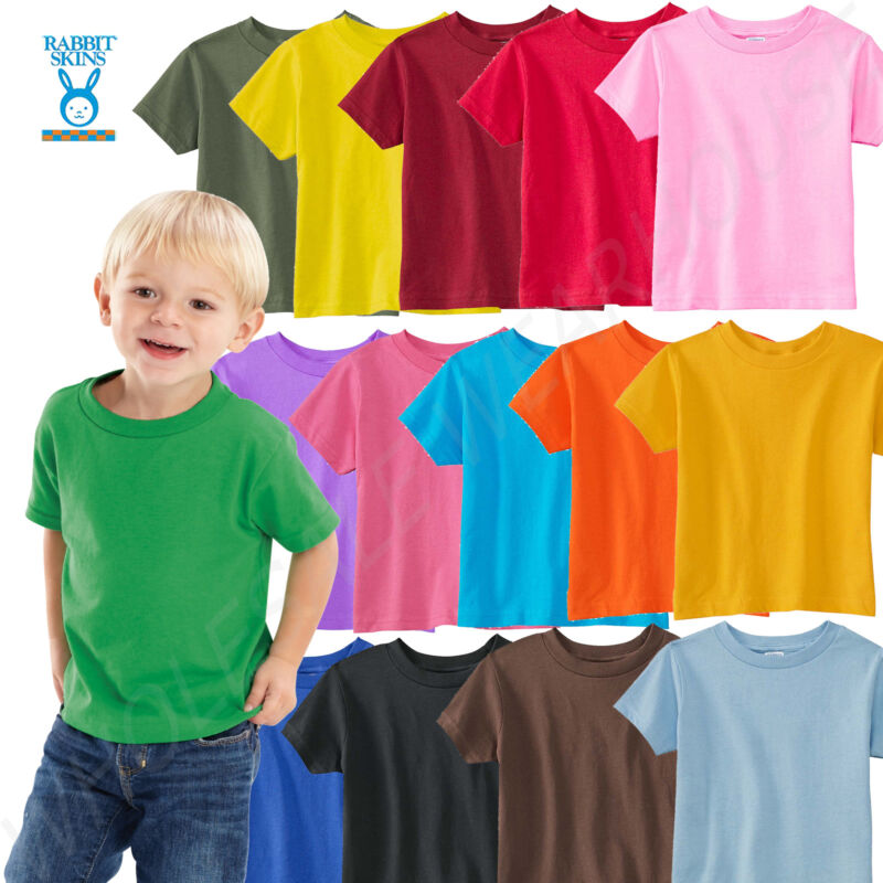 NEW Rabbit Skins Toddler 5.5 oz. Short Sleeve T-Shirt M-RS330