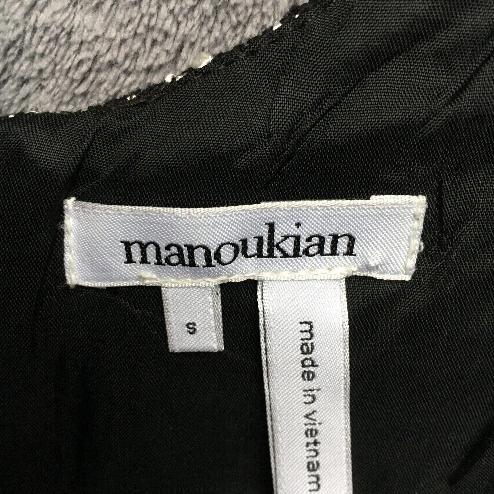 Robe manoukian bimatière tweed avec simili cuir - taille s (36/38)