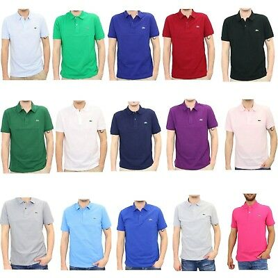 NEW MENS LACOSTE SHORT SLEEVE CLASSIC FIT COTTON PIQUE POLO GOLF SHIRT, L1212