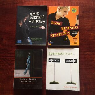 Business Statistics & Ethics Textbooks (4 for $20) Yeerongpilly Brisbane South West Preview