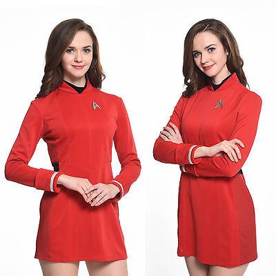 Star Trek Beyond Nyota Uhurae Dress Uniform Cosplay Costume Halloween Party - Star Trek Halloween Party