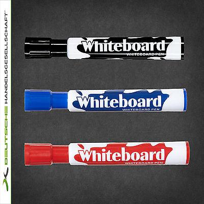 3er Set Stifte Whiteboardmarker Boardmarker Marker trocken abwischbar Flip