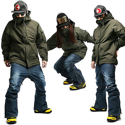 SOUTH PLAY Hohe Qualitä Wasserdichte Ski Snowboard Anzüge Jacke Hose KHAKI SET