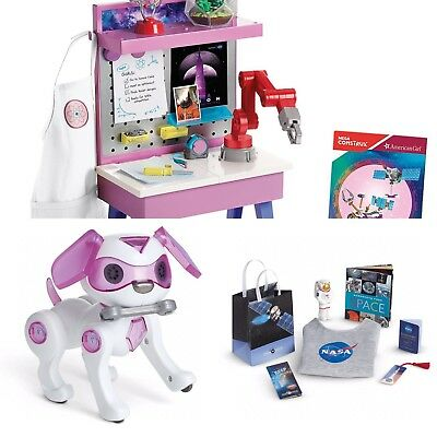 3 New Sets American Girl Goty Luciana Vega Doll S Maker Station Robotic Dog Nasa