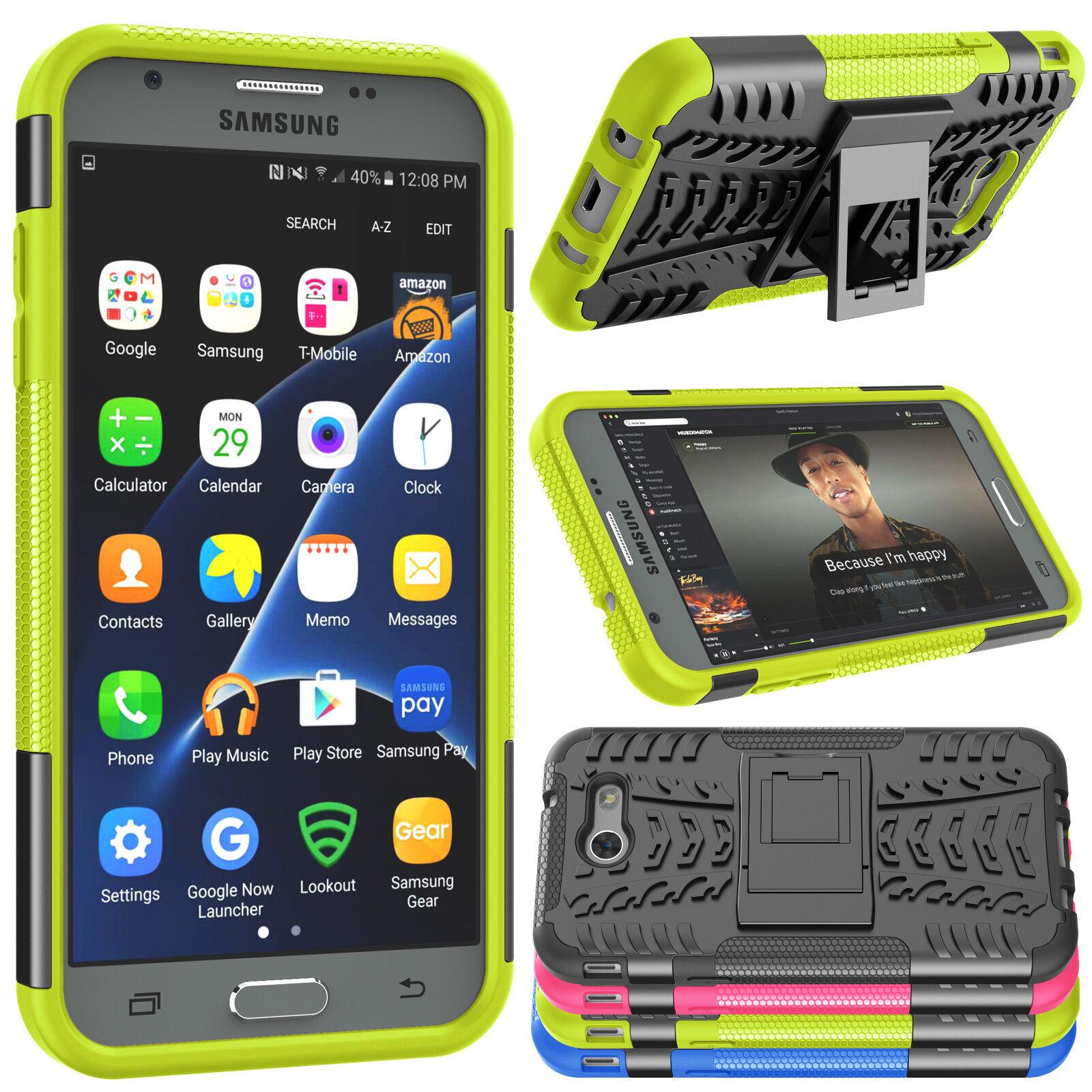 For Samsung Galaxy J3 Luna Pro/J3 Mission/J3 2017/Amp Prime 2 Hybrid Stand Case