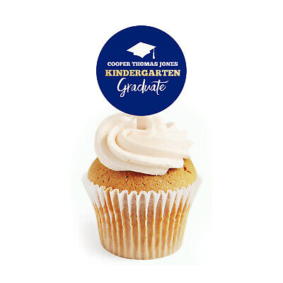 uation Promotion Personalized 2 inch Round Cupcake Toppers (Cupcake Topper Promotion)