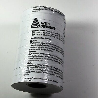 Avery Dennison 1100 Series Pricing Labels For Monarch 11 Roll Tube 17m New