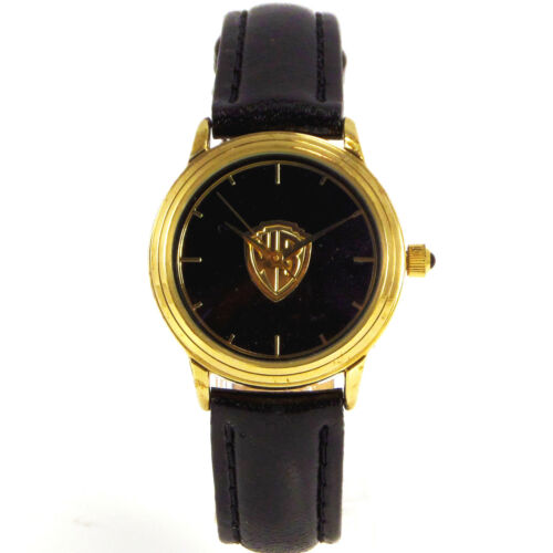 Fossil Warner Bros Watch Collection Lady Gold Tone WB Logo Leather Band Just $59
