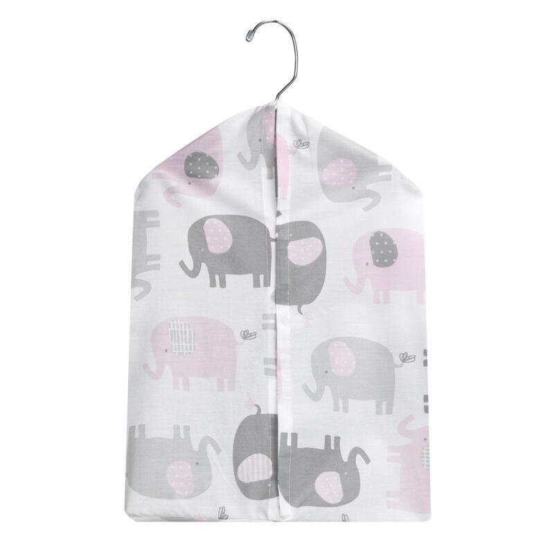 Bedtime Originals Eloise Pink/Gray/White Elephant Diaper Stacker