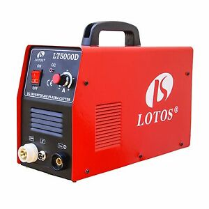 Plasma Cutter 50 Amp Dual Voltage Compact Metal Cutter Lotos LT5000D Clean Cut