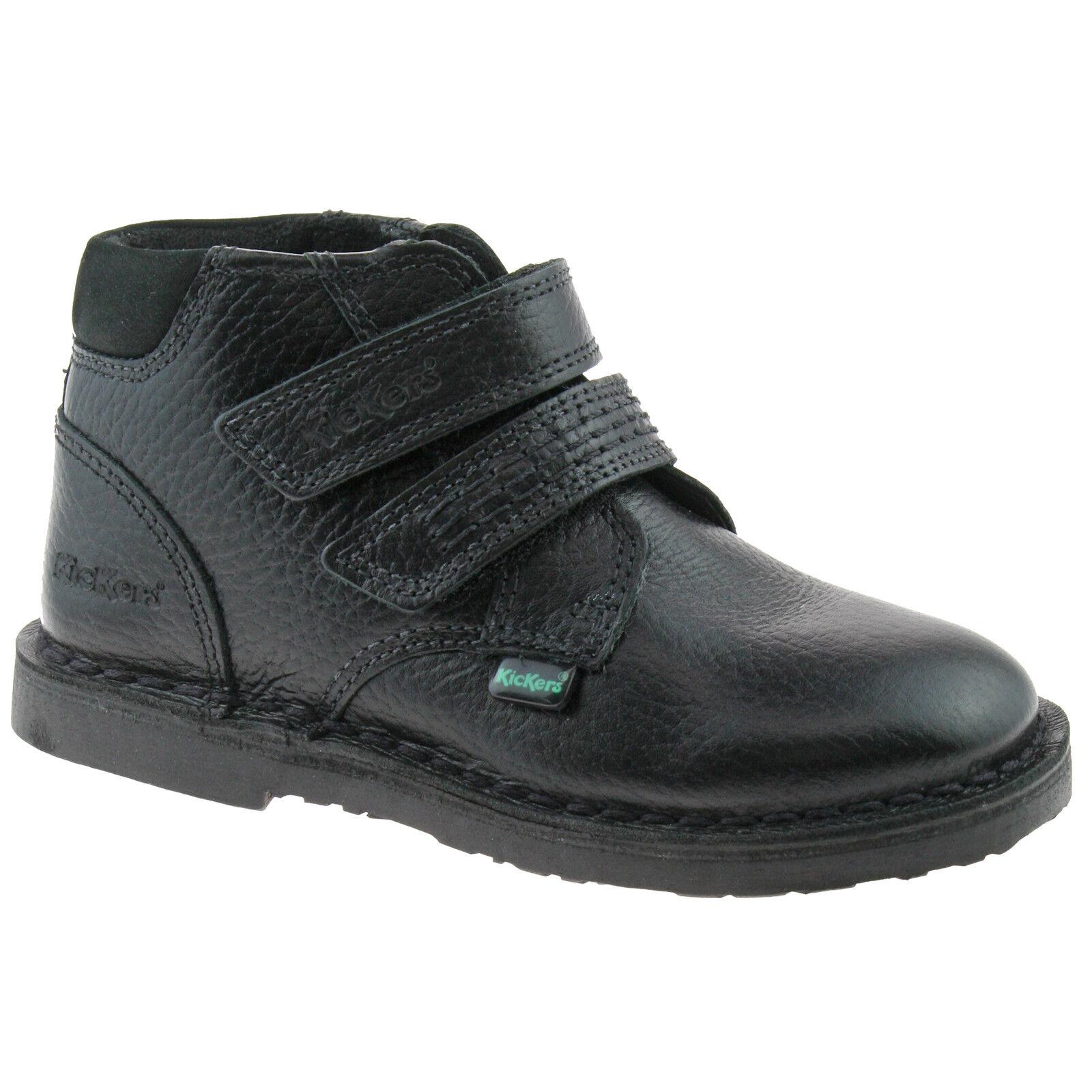 Adlar details about boys infants kickers adlar twin black leather boots sizes 5 -  12 1-14171
