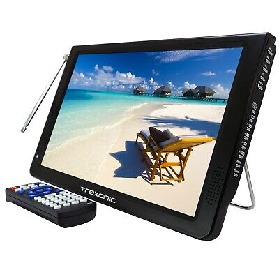"""Reconditioned Trexonic Portable Ultra Lightweight Rechargeable Widescreen 12"""" L"""