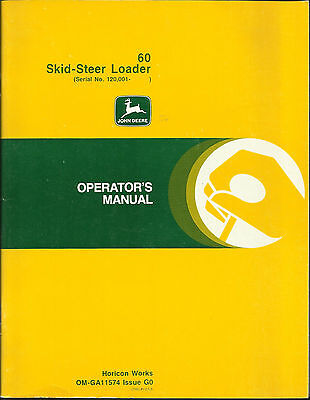 John Deere 60 Skid-steer Loader Operators Manual