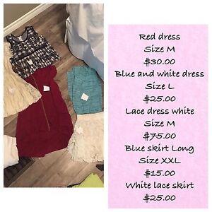 Various women's summer clothes