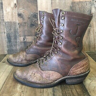 Hathorn Vintage Laceup Packer Logger Lineman Boots USA Made Mens 10.5 EE