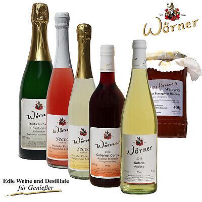 WEINGUT WÖRNER: Geschenk-Paket mit Wein, Sekt, Secco, Weingelee - Probierpaket