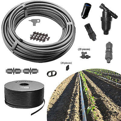 Garden Drip Irrigation Kit GK2000-RV 20 row valves 2000ft vegetable water tape