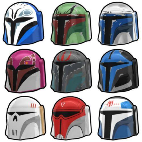 Arealight MANDALORIAN HELMET for Star Wars Minifigures -Pick Style-