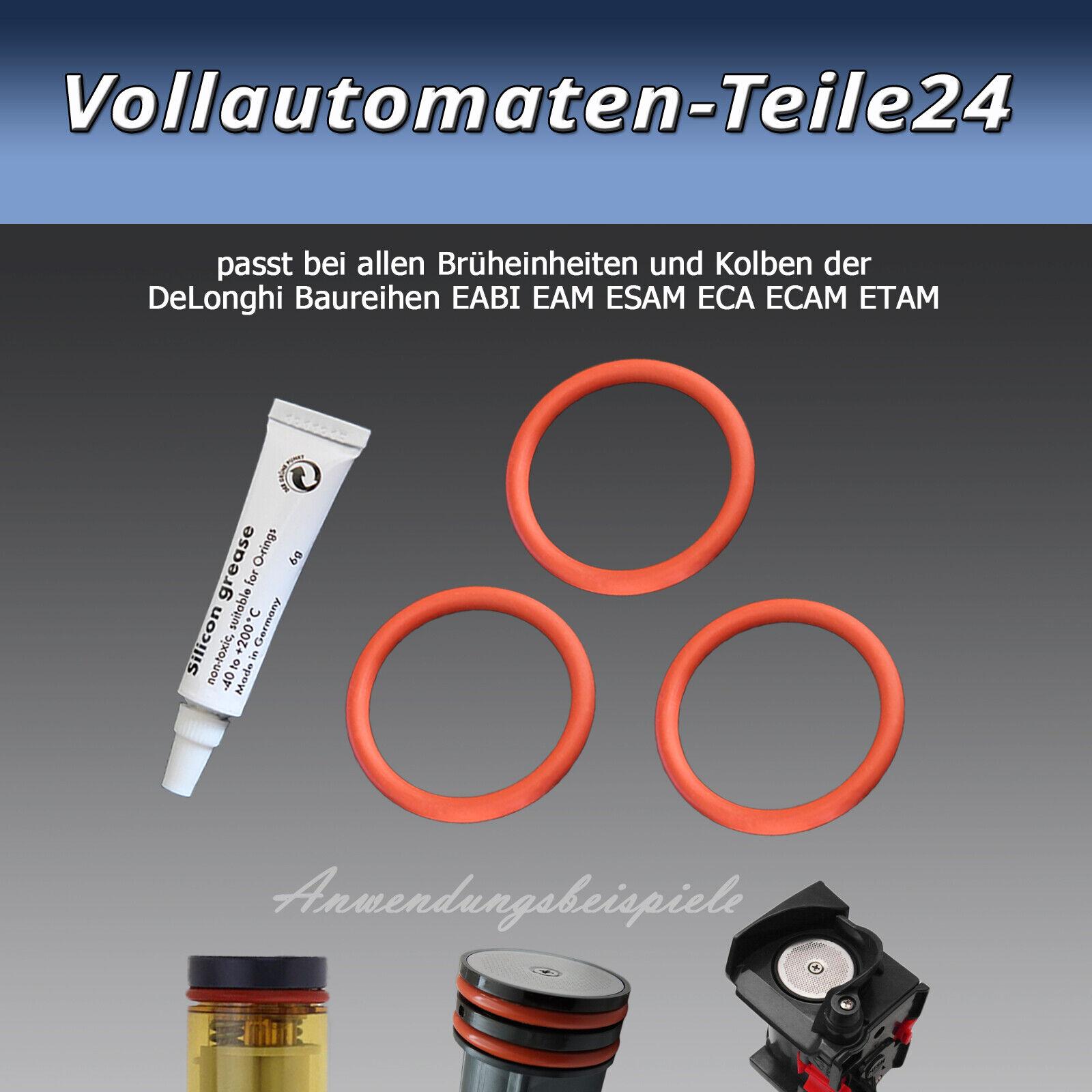Kolbenringe O-Ring passend für DeLonghi EAM//ESAM//ECAM Brühgruppe 10 Stück