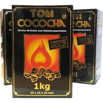 Tom Cococha Kokoskohle Coco Gold Shishakohle Naturkohle Shisha Kohle 3 kg