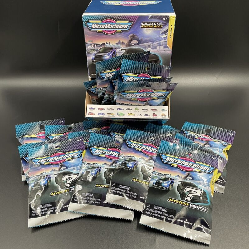 Micro Machines SERIES 3 Mystery Car Blind Bag Lot Of 25 Unopened DISPLAY BOX